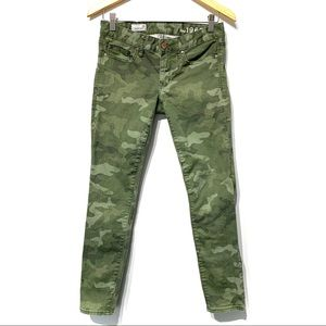 Gap always skinny camo green jeans pants 1969